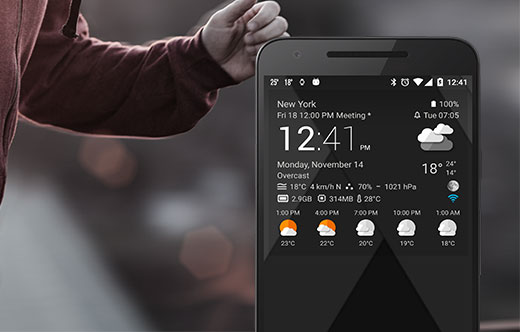 Free themes for Transparent clock & weather